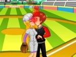 נשיקה במשחק בייסבול