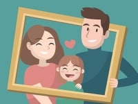 פאזל משפחה מאושרת